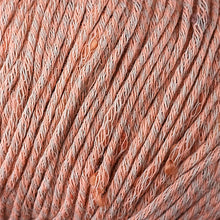 Load image into Gallery viewer, Skein of Berroco Zinnia Worsted weight yarn in color Peach Cobbler (Orange) for knitting and crocheting.