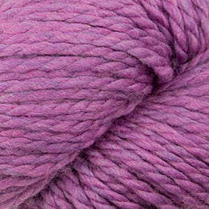 Skein of Cascade 128 Superwash Bulky weight yarn in the color Aster (Purple) for knitting and crocheting.