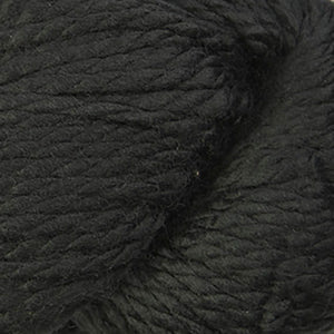 Skein of Cascade 128 Superwash Bulky weight yarn in the color Black (Black) for knitting and crocheting.