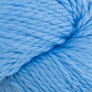Skein of Cascade 128 Superwash Bulky weight yarn in the color Blue Horizon (Blue) for knitting and crocheting.
