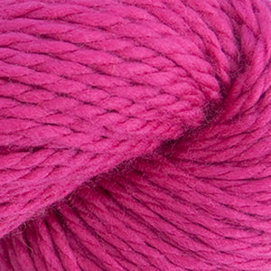 Skein of Cascade 128 Superwash Bulky weight yarn in the color Cerise (Pink) for knitting and crocheting.