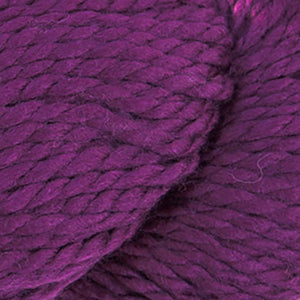 Skein of Cascade 128 Superwash Bulky weight yarn in the color Dark Plum (Purple) for knitting and crocheting.