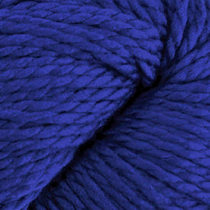 Skein of Cascade 128 Superwash Bulky weight yarn in the color Deep Sapphire (Blue) for knitting and crocheting.