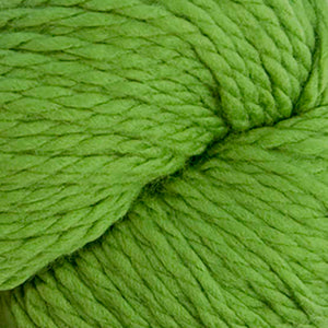 Skein of Cascade 128 Superwash Bulky weight yarn in the color Green Apple (Green) for knitting and crocheting.