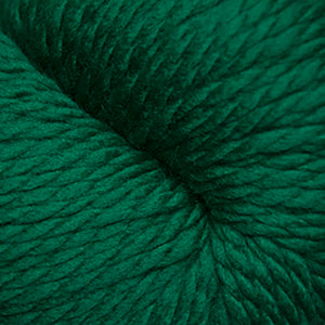 Skein of Cascade 128 Superwash Bulky weight yarn in the color Ivy (Green) for knitting and crocheting.