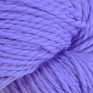 Skein of Cascade 128 Superwash Bulky weight yarn in the color Periwinkle (Purple) for knitting and crocheting.