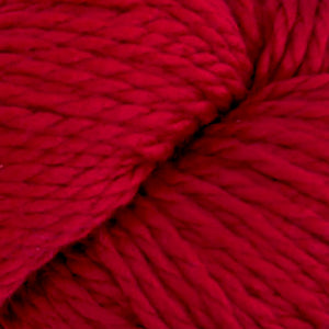 Skein of Cascade 128 Superwash Bulky weight yarn in the color Ruby (Red) for knitting and crocheting.