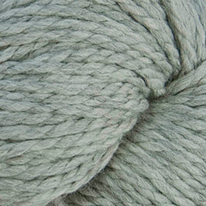 Skein of Cascade 128 Superwash Bulky weight yarn in the color Silver (Gray) for knitting and crocheting.