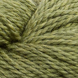 Skein of Cascade 128 Superwash Bulky weight yarn in the color Turtle (Green) for knitting and crocheting.