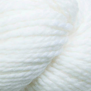 Skein of Cascade 128 Superwash Bulky weight yarn in the color White (White) for knitting and crocheting.