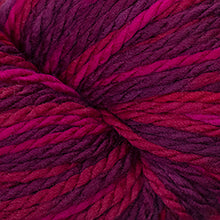 Load image into Gallery viewer, Skein of Cascade 128 Superwash Multis Bulky weight yarn in the color Reds (Red) for knitting and crocheting.