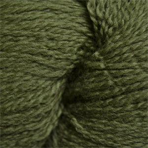 Skein of Cascade 220 Fingering Sock weight yarn in the color Avocado (Green) for knitting and crocheting.