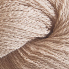 Load image into Gallery viewer, Skein of Cascade 220 Fingering Sock weight yarn in the color Beige (Tan) for knitting and crocheting.