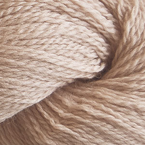 Skein of Cascade 220 Fingering Sock weight yarn in the color Beige (Tan) for knitting and crocheting.