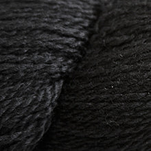 Load image into Gallery viewer, Skein of Cascade 220 Fingering Sock weight yarn in the color Black (Black) for knitting and crocheting.