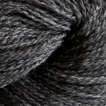 Load image into Gallery viewer, Skein of Cascade 220 Fingering Sock weight yarn in the color Charcoal (Gray) for knitting and crocheting.