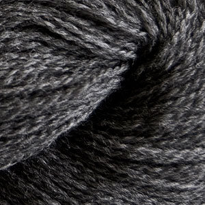 Skein of Cascade 220 Fingering Sock weight yarn in the color Charcoal (Gray) for knitting and crocheting.