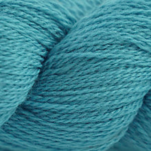 Load image into Gallery viewer, Skein of Cascade 220 Fingering Sock weight yarn in the color Dusty Turquoise (Blue) for knitting and crocheting.