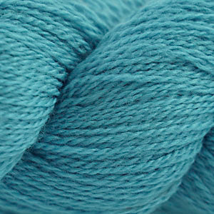 Skein of Cascade 220 Fingering Sock weight yarn in the color Dusty Turquoise (Blue) for knitting and crocheting.