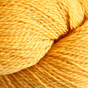 Skein of Cascade 220 Fingering Sock weight yarn in the color Goldenrod (Yellow) for knitting and crocheting.