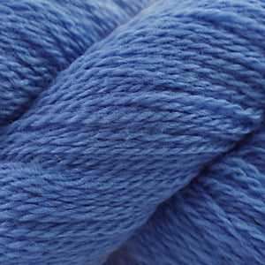 Skein of Cascade 220 Fingering Sock weight yarn in the color Marina Blue (Blue) for knitting and crocheting.