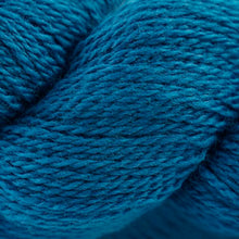 Load image into Gallery viewer, Skein of Cascade 220 Fingering Sock weight yarn in the color Midnight (Blue) for knitting and crocheting.