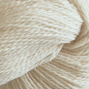 Skein of Cascade 220 Fingering Sock weight yarn in the color Natural (Cream) for knitting and crocheting.