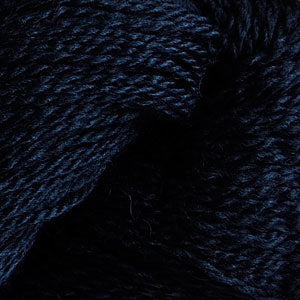 Skein of Cascade 220 Fingering Sock weight yarn in the color Navy (Blue) for knitting and crocheting.