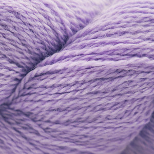 Skein of Cascade 220 Fingering Sock weight yarn in the color Orchid Haze (Purple) for knitting and crocheting.