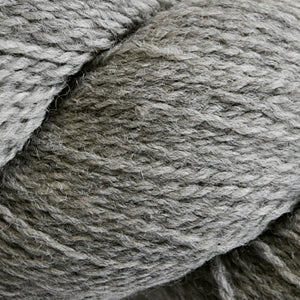 Skein of Cascade 220 Fingering Sock weight yarn in the color Silver (Gray) for knitting and crocheting.