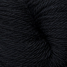 Load image into Gallery viewer, Skein of Cascade 220 Superwash Sport Sport weight yarn in the color Black (Black) for knitting and crocheting.