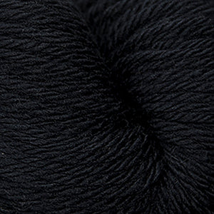 Skein of Cascade 220 Superwash Sport Sport weight yarn in the color Black (Black) for knitting and crocheting.