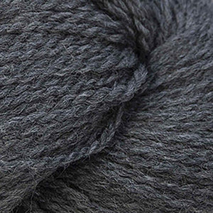 Skein of Cascade 220 Superwash Sport Sport weight yarn in the color Charcoal (Gray) for knitting and crocheting.