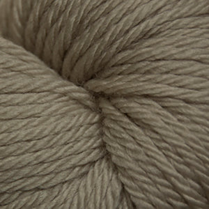 Skein of Cascade 220 Superwash Sport Sport weight yarn in the color Feather Grey (Tan) for knitting and crocheting.