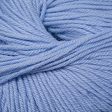 Load image into Gallery viewer, Skein of Cascade 220 Superwash Worsted weight yarn in the color Baby Denim (Blue) for knitting and crocheting.