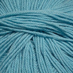 Skein of Cascade 220 Superwash Worsted weight yarn in the color Bachelor Button (Blue) for knitting and crocheting.