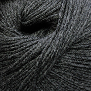 Skein of Cascade 220 Superwash Worsted weight yarn in the color Charcoal (Gray) for knitting and crocheting.
