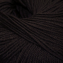 Load image into Gallery viewer, Skein of Cascade 220 Superwash Worsted weight yarn in the color Chocolate (Brown) for knitting and crocheting.