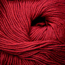 Load image into Gallery viewer, Skein of Cascade 220 Superwash Worsted weight yarn in the color Christmas Red Heather (Red) for knitting and crocheting.