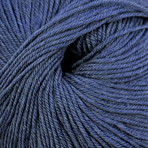 Skein of Cascade 220 Superwash Worsted weight yarn in the color Colonial Blue Heather (Blue) for knitting and crocheting.