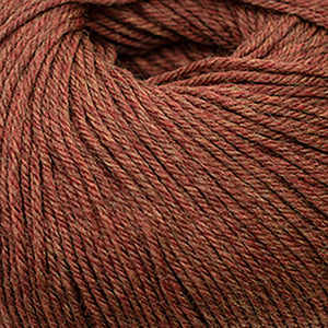 Skein of Cascade 220 Superwash Worsted weight yarn in the color Copper Heather (Brown) for knitting and crocheting.