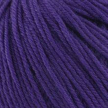 Load image into Gallery viewer, Skein of Cascade 220 Superwash Worsted weight yarn in the color Dark Violet (Purple) for knitting and crocheting.
