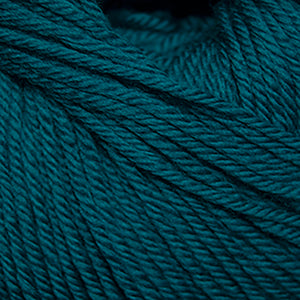 Skein of Cascade 220 Superwash Worsted weight yarn in the color Emerald City (Blue) for knitting and crocheting.