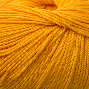 Skein of Cascade 220 Superwash Worsted weight yarn in the color Gold Fusion (Yellow) for knitting and crocheting.
