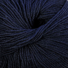 Load image into Gallery viewer, Skein of Cascade 220 Superwash Worsted weight yarn in the color Navy (Blue) for knitting and crocheting.