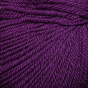 Skein of Cascade 220 Superwash Worsted weight yarn in the color Plum Crazy (Pink) for knitting and crocheting.