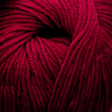 Load image into Gallery viewer, Skein of Cascade 220 Superwash Worsted weight yarn in the color Ruby (Red) for knitting and crocheting.