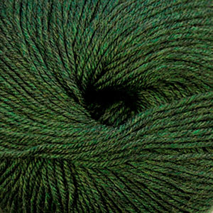 Skein of Cascade 220 Superwash Worsted weight yarn in the color Shire (Green) for knitting and crocheting.