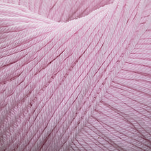 Load image into Gallery viewer, Skein of Cascade 220 Superwash Worsted weight yarn in the color Strawberry Cream (Pink) for knitting and crocheting.