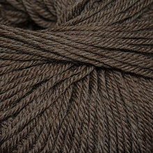 Load image into Gallery viewer, Skein of Cascade 220 Superwash Worsted weight yarn in the color Walnut Heather (Brown) for knitting and crocheting.